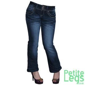 Pippa Classic Bootcut Jeans | UK Size 8/10 | Petite Leg Inseam 24 inches